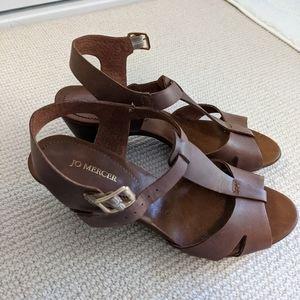 Jo Mercer Tan Sandal Heels (eu 40)